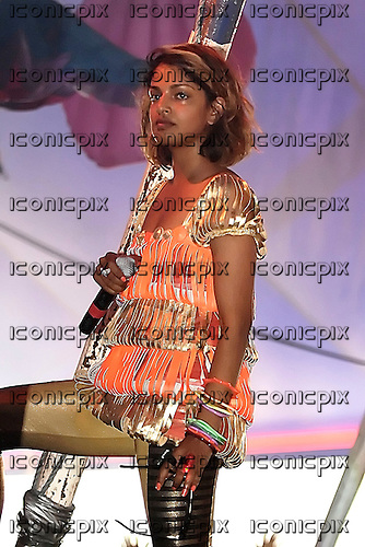 M.I.A. (born Mathangi Arulpragasam) - peforming live in concert at Get Loaded In The Park on Clapham Common in London UK - 26 Aug 2007.  Photo credit: George Chin/IconicPix