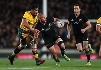 TJ Perenara in action during the Bledisloe Cup and Rugby Championship rugby match between the New Zealand All Blacks and Australia Wallabies at Eden Park in Auckland, New Zealand on Saturday, 25 August 2018. Photo: Simon Watts / lintottphoto.co.nz
