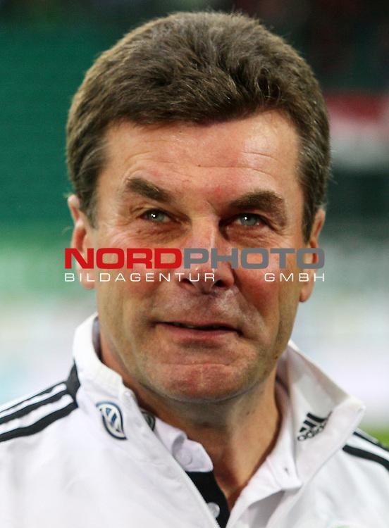 08.02.2014, Volkswagen Arena, Wolfsburg, GER, 1.FBL, VfL Wolfsburg vs 1. FSV Mainz 05, im Bild Dieter Hecking (Trainer Wolfsburg)<br /> <br /> Foto &copy; nordphoto / Schrader