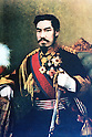 1888, Japan - Emperor Meiji (1852-1912), personal name Mutsuhito also called Meiji the Great or Emperor Mutsuhito was the 122nd emperor of Japan according to the traditional order of succession, reigning from 3 February 1867 until his death. He presided over a time of rapid change in Japan, as the nation rose from a feudal shogunate to become a world power. This portrait of the Emperor Meiji by Italian painter Eduardo Chiossone.  (Photo by Kingendai Photo Library/AFLO)