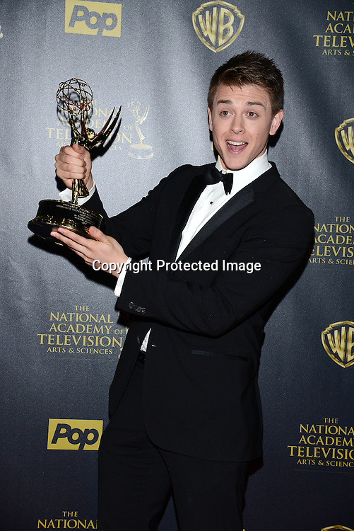 winner Chad Duell  attends the 42nd Annual Daytime Emmy Awards Press Room on April 26, 2015 at Warner Bros Studio in Burbank, California, USA