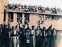 Iran 1989 .All Kurdish parties united for the celebration of the victims of Halabja.Iran 1989 .Tous les partis kurdes rassembles a la memoire des victimes de Halabja