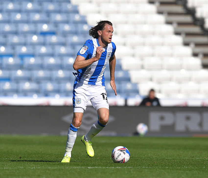 Huddersfield Town's Richard Stearman<br /> <br /> Photographer Dave Howarth/CameraSport<br /> <br /> The EFL Sky Bet Championship - Huddersfield Town v Norwich - Saturday September 12th 2020 - The John Smith's Stadium - Huddersfield<br /> <br /> World Copyright © 2020 CameraSport. All rights reserved. 43 Linden Ave. Countesthorpe. Leicester. England. LE8 5PG - Tel: +44 (0) 116 277 4147 - admin@camerasport.com - www.camerasport.com