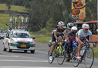 COLOMBIA. 08-08-2014. Un lote de ciclistas durante la etapa 3, Barbosa – Chiquinquirá – Tunja – 123.2 Km, de la Vuelta a Colombia 2014 en bicicleta que se cumple entre el 6 y el 17 de agosto de 2014. / A group of cyclists during the stage 3, Barbosa – Chiquinquira – Tunja – 123.2 Km, of the Tour of Colombia 2014 in bike holds between 6 and 17 of August 2014. Photo:  VizzorImage/ José Miguel Palencia / Str