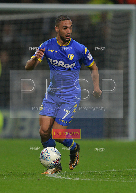 10/04/2018 Sky Bet League Championship Preston North End v Leeds United<br /> <br /> Kemar Roofe, Leeds United FC