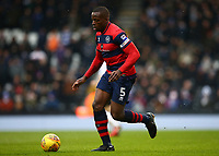 17th March 2018, Craven Cottage, London, England; EFL Championship football, Fulham versus Queens Park Rangers; Nedum Onuoha of Queens Park Rangers on the ball