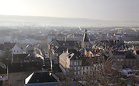 View over the town of Chateau-Thierry seen from its medieval castle, Aisne, Picardy, France. Picture by Manuel Cohen