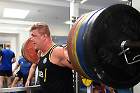 Sam Nixon of Bath Rugby in the gym. Bath Rugby pre-season training on July 2, 2018 at Farleigh House in Bath, England. Photo by: Patrick Khachfe / Onside Images