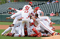 NWA Democrat-Gazette/ANDY SHUPE<br /> Cabot players celebrate Friday, May 19, 2017, their victory over Springdale Har-Ber in the Class 7A state championship game at Baum Stadium in Fayetteville. Visit nwadg.com/photos to see more photographs from the game.