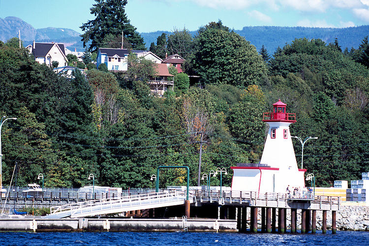 Port Alberni, BC, Vancouver Island, British Columbia, Canada - Lighthouse at Maritime Discovery Centre