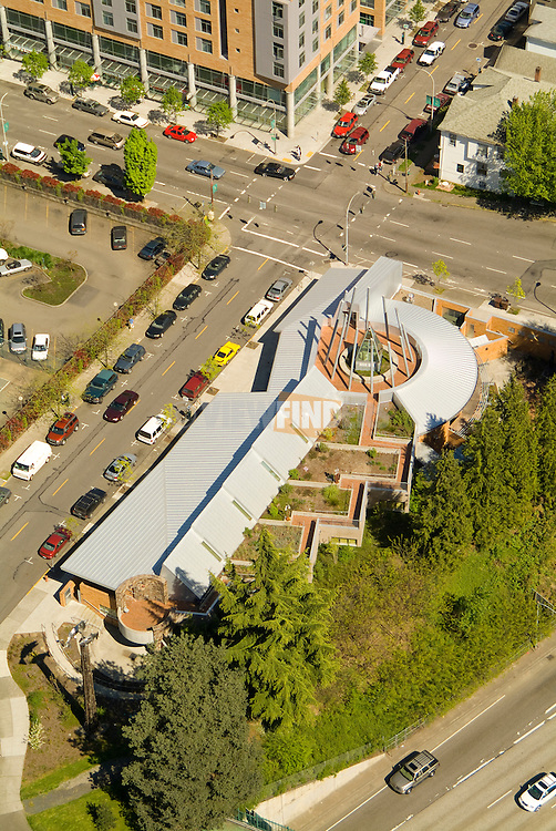 Aerial of Portland State University Native American Student and Community Center, Oregon