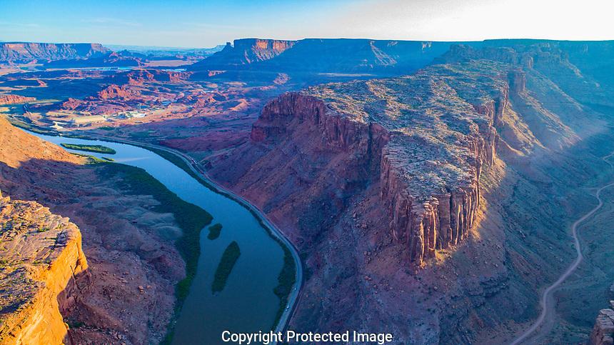 Long Canyon and  Colorado River near Moab, Utah