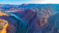 Long Canyon and  Colorado River near Moab, Utah