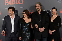 MADRID, SPAIN &ntilde; MARTCH 07: Javier Bardem, Penelope Cruz, Fernando Leon de Aranoa and Julieth Restrepo attends 'Loving Pablo' Premiere at Callao Cinema on March 7, 2018 in Madrid, Spain. <br /> ** NOT FOR SALE IN SPAIN**<br /> CAP/MPI/JOL<br /> &copy;JOL/MPI/Capital Pictures