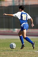 SAN ANTONIO, TX - OCTOBER 18, 2005: The University of the Incarnate Word Cardinals vs. the St. Mary's University Rattlers Women's Soccer at the St. Mary's Soccer Field. (Photo by Jeff Huehn)
