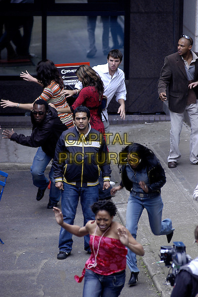 "ACTOR.Filmimg ""Spooks"" in Southwark, London, UK..May 15th, 2006.Ref: IA.film set movie tv suicide bomber full length acting running.www.capitalpictures.com.sales@capitalpictures.com.©Capital Pictures"