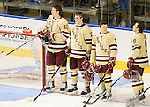 Kevin Hayes (BC - 12), Pat Mullane (BC - 11), Danny Linell (BC - 10), Barry Almeida (BC - 9) - The Boston College Eagles defeated the Air Force Academy Falcons 2-0 in their NCAA Northeast Regional semi-final matchup on Saturday, March 24, 2012, at the DCU Center in Worcester, Massachusetts.