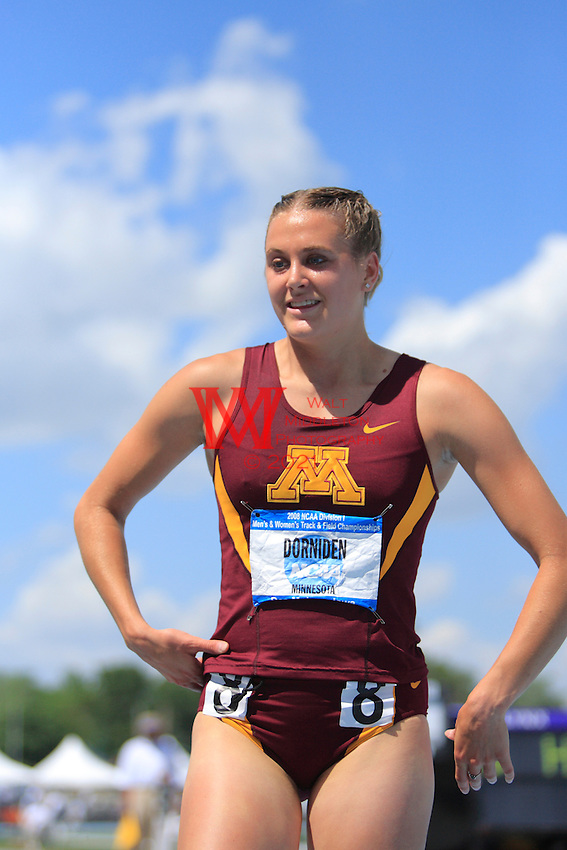 Minnesota's Heather Dorniden during competition at the 2008 Outdoor NCAA Track & Field Nationals. 061408