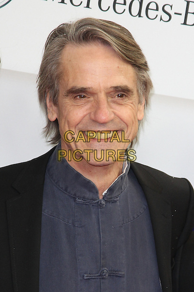 "Jeremy Irons.German premiere of ""Night Train to Lisbon"", Cinemaxx movie theatre, Hamburg Germany..February 20th, 2013.headshot portrait black suit jacket mandarin asian style blue top shirt    .CAP/UNT.©Unit2/Capital Pictures"