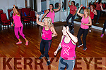 Enjoying the Zumba danceathon in Collis Sands House for Breast Awareness Fundraiser for the Marie Keating Foundation on Sunday.