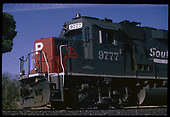 Left front partial view of SP GP60 #9777.  &quot;#9777 GP60&quot;.<br /> D&amp;RGW/Southern Pacific  Alamosa, CO  Taken by Berkstresser, George - 1/9/1994