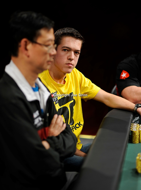 Cole Swannack stares down Chong Cheong.