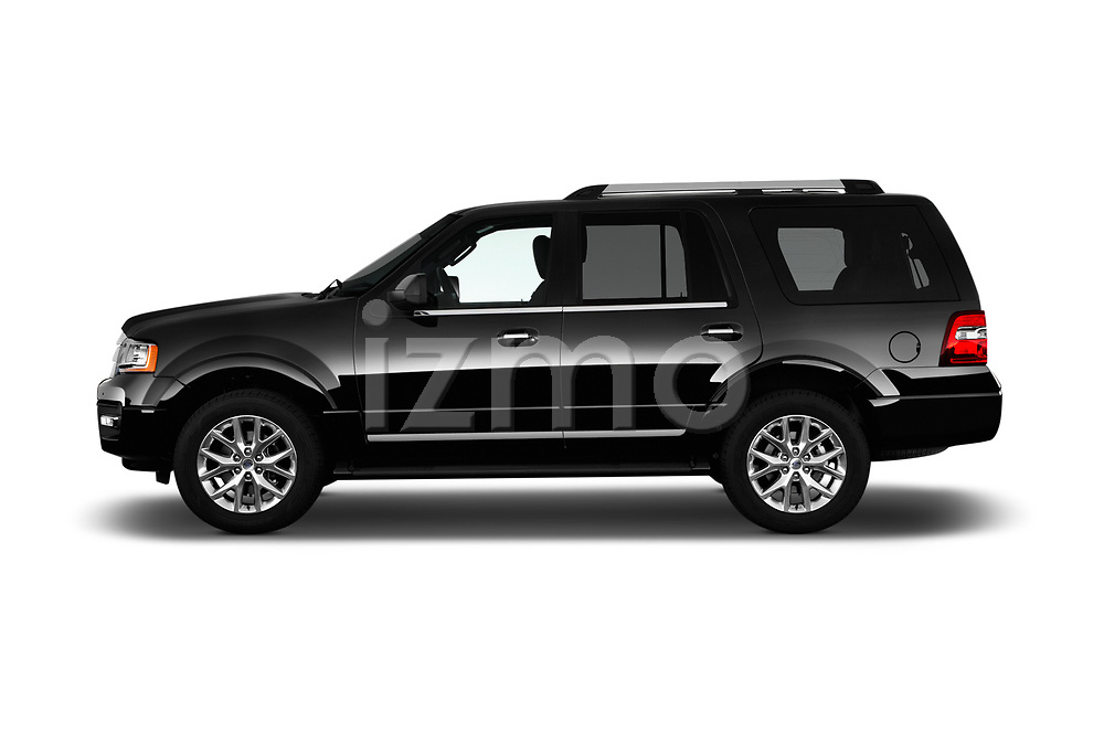 Car Driver side profile view of a 2016 Ford Expedition Limited 5 Door SUV Side View