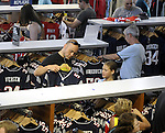(Foxboro 070613) Josh Benner of Leominster, with his daughter Kyla, 10, look to find a new jersey to replace the Aaron Hernandez jersey during an exchange of Aaron Hernandez jerseys Saturday at the pro shop at Gillette Stadium in Foxboro.  (Jim Michaud Photo) For Sunday