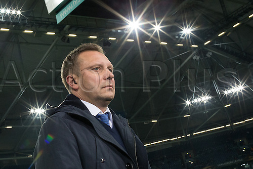 25.02.2016. Gelsenkirchen, Germany.  Schalke's coach Andre Breitenreiter before the Europa League Round of 32 Second Leg soccer match between Schalke 04 and FC Shakhtar Donetsk in the Veltins Arena in Gelsenkirchen, Germany, 25 February 2016.