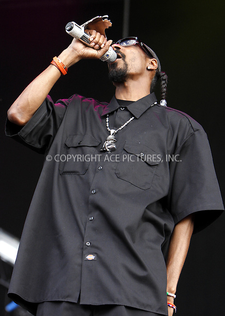 WWW.ACEPIXS.COM . . . . .  ..... . . . . US SALES ONLY . . . . .....Snoop Dogg performs live during the second day of Wireless Festival 2010 at Hyde Park on July 3, 2010 in London, England. ....Please byline: FAMOUS-ACE PICTURES... . . . .  ....Ace Pictures, Inc:  ..tel: (212) 243 8787 or (646) 769 0430..e-mail: info@acepixs.com..web: http://www.acepixs.com