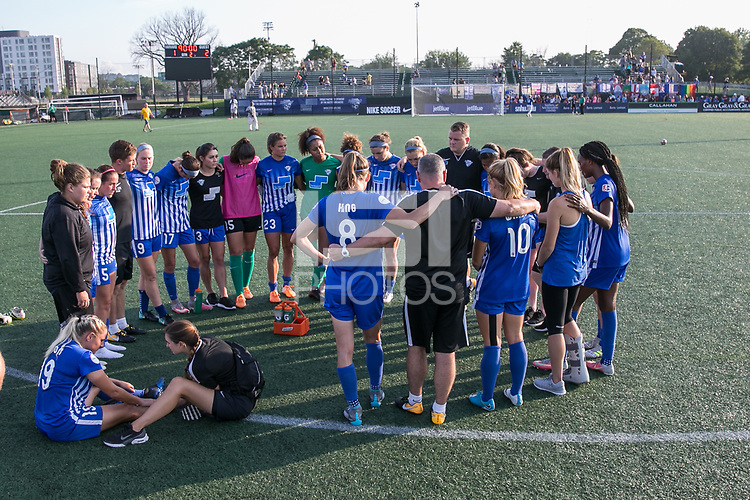 Allston, MA - Saturday August 19, 2017: Boston Breakers post game. during a regular season National Women's Soccer League (NWSL) match between the Boston Breakers and the Orlando Pride at Jordan Field.