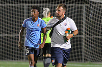 Piscataway, NJ - Wednesday Sept. 07, 2016: Maya Hayes, Dan Chrashewsky during a regular season National Women's Soccer League (NWSL) match between Sky Blue FC and the Orlando Pride FC at Yurcak Field.
