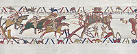 Bayeux Tapestry scene 19 :  Duke Willam and his army attack Dinan in Britany. BYX19