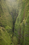 Walls of Honopu Valley on the Na Pali Coast, Kauai, Hawaii