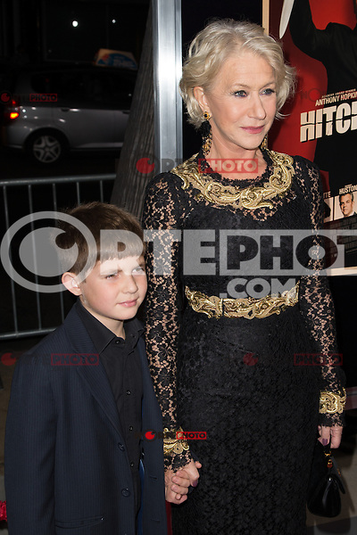 """November 20, 2012 - Beverly Hills, California - Felix Mirren and Helen Mirren at the """"Hitchcock"""" Los Angeles Premiere held at the Academy of Motion Picture Arts and Sciences Samuel Goldwyn Theater. Photo Credit: Colin/Starlite/MediaPunch Inc"""