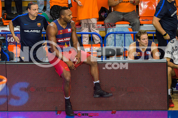FC Barcelona Lassa's Joey Dorsey during the match of Endesa ACB League between Fuenlabrada Montakit and FC Barcelona Lassa at Fernando Martin Stadium in fuelnabrada,  Madrid, Spain. October 30, 2016. (ALTERPHOTOS/Rodrigo Jimenez) /NORTEPHOTO.COM