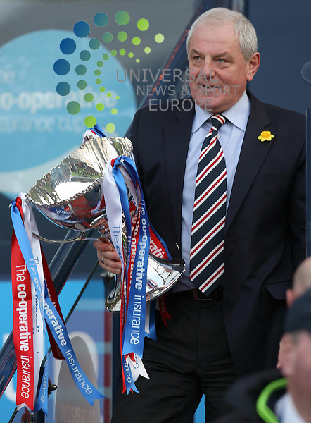 Walter Smith with the cup during The Co-Operative League Cup Final 2009/10 between St Mirren and Rangers at The National Stadium Hampden Park Glasgow 21/03/10..Picture by Ricky Rae/universal News & Sport (Scotland).