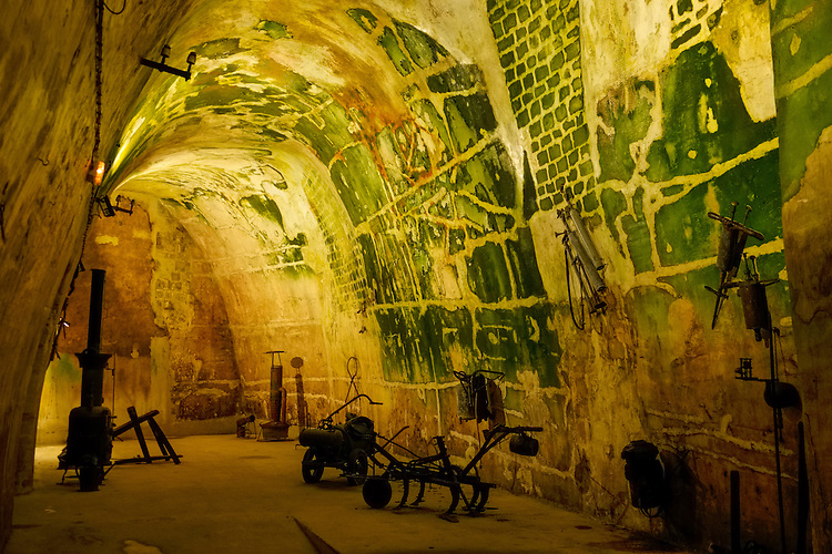 The champagne underground cellars in Reims provide a refreshing break for intrepid travelers within the city.