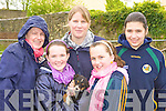 Looking at the puppies on sale at Milltown Fair on Sunday was l-r: Breda, Ciara O'Donoghue, Maura Mann, Emer O'Donoghue and Elena Horgan Listry