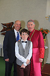 Ross Kelly.after being confirmed by Bishop Michael Smith in Julianstown Church with Anthony Kelly.Picture:  www.newsfile.ie ..