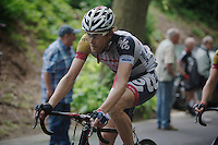 Jurgen Van de Walle (BEL) up the Tiegemberg<br /> <br /> Halle - Ingooigem 2013<br /> 197km