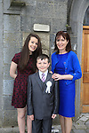 Ben McDonagh, Eve and Maria at first communion in Slane..Picture:  www.newsfile.ie ..