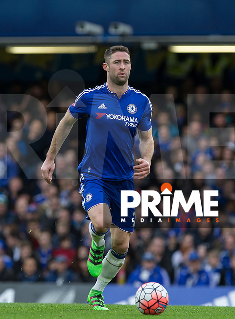 Gary Cahill of Chelsea in action during the FA Cup 5th round match between Chelsea and Manchester City at Stamford Bridge, London, England on 21 February 2016. Photo by Andy Rowland.