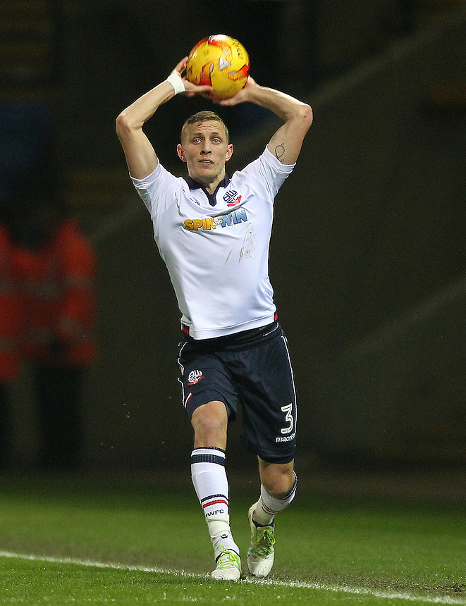 Bolton Wanderers Dean Moxey<br /> <br /> Photographer Mick Walker/CameraSport<br /> <br /> The EFL Sky Bet League One - Bolton Wanderers v Rochdale - Tuesday 14th February 2017 - Macron Stadium - Bolton<br /> <br /> World Copyright &copy; 2017 CameraSport. All rights reserved. 43 Linden Ave. Countesthorpe. Leicester. England. LE8 5PG - Tel: +44 (0) 116 277 4147 - admin@camerasport.com - www.camerasport.com