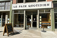 NEW YORK, NY- MARCH 16: Le Pain Quotidien Open For Business on limited hours and service during the Coronavirus Pandemic in New York City on March 16, 2020. <br /> CAP/MPI/RMP<br /> ©RMP/MPI/Capital Pictures