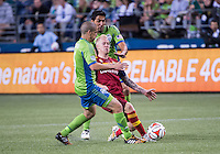 Seattle, Washington - September 12,  2014: The Seattle Sounders FC defeated Real Salt Lake 3-2 in Major League Soccer action at CenturyLink Field.