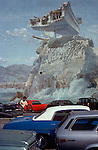 Mural on parling lot wall in West L.A., CA circa 1979