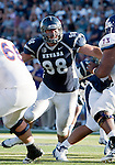 September 15, 2012: Nevada Wolf Pack defensve linemen #98 Jack Reynoso rushes against the Northwestern State Demons during their NCAA football game played at Mackay Stadium on Saturday afternoon in Reno, Nevada.