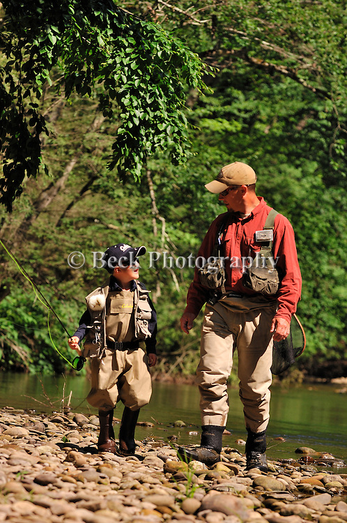 Alaska, fly fishing, father and sons