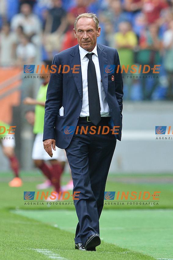 Zdenek Zeman, allenatore del Cagliari.<br /> Roma 21-09-2014 Stadio Olimpico. Football Calcio 2014/2015 Serie A. AS Roma - Cagliari. Foto Antonietta Baldassarre / Insidefoto